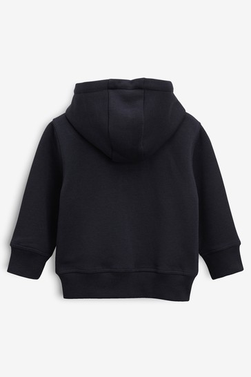 Navy Essential Zip Through Hoody (3mths-7yrs)