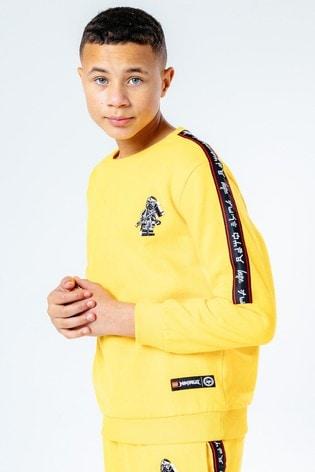 Hype. Yellow LEGO® Ninjago Cole Taping Kids Crew Neck Jumper