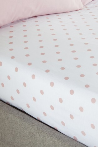 Polka Dotty Fitted Sheet by Catherine Lansfield