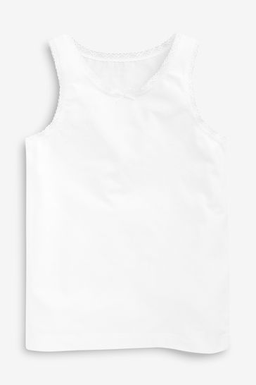 White Vests Five Pack (1.5-16yrs)