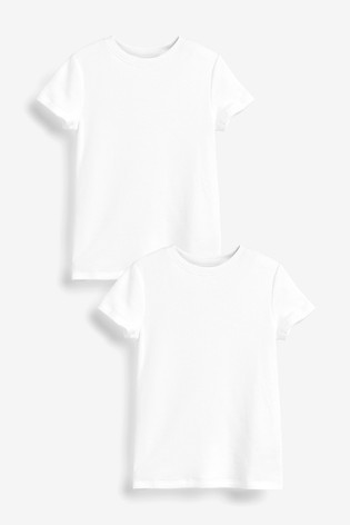 White 2 Pack Short Sleeved Thermal Tops (2-16yrs)
