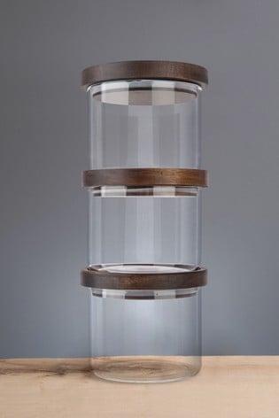 Set of 3 Artisan Street Stacking Storage Jar Set