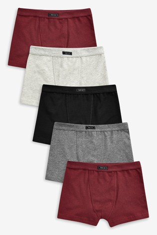 Plum/Grey Trunks Five Pack (2-16yrs)