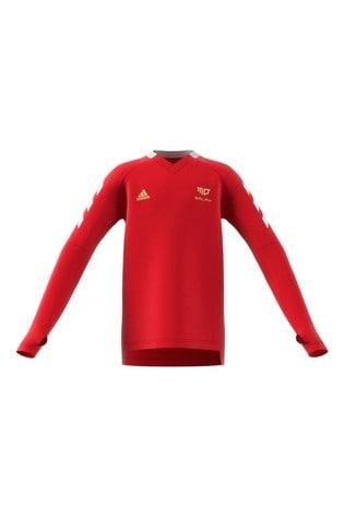 adidas Red Mo Salah Long Sleeve Jersey Top