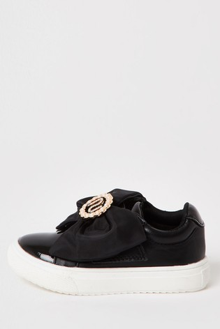 River Island Black Organza Bow Shoes