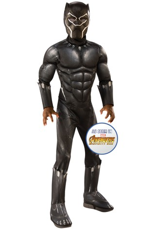 Rubies Marvel Avengers Deluxe Black Panther Fancy Dress Costume