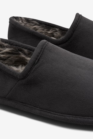 Grey Close Back Slippers