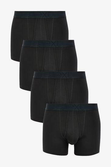 Black Signature Supima Cotton A-Fronts Four Pack