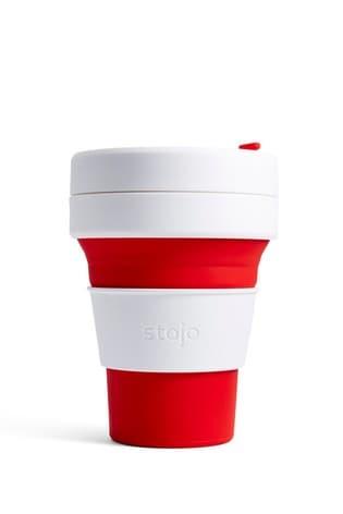 Stojo Red 12oz Reusable Pocket Cup