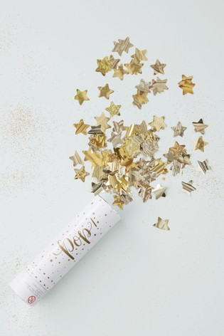 Ginger Ray Gold Star Confetti Cannon
