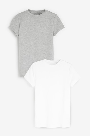GreyWhite 2 Pack Thermal T-Shirts (2-16yrs)