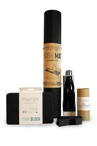 Myga Exclusive To Next Black Yoga Set
