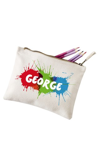 Personalised Splash Pencil Case by Loveabode