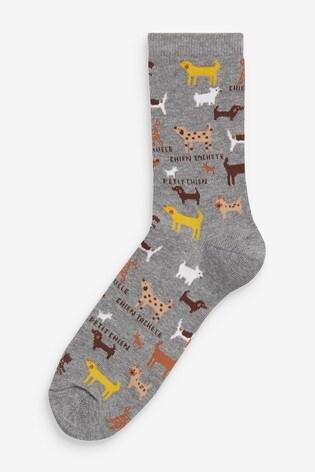 Dog Spot Ankle Socks Five Pack