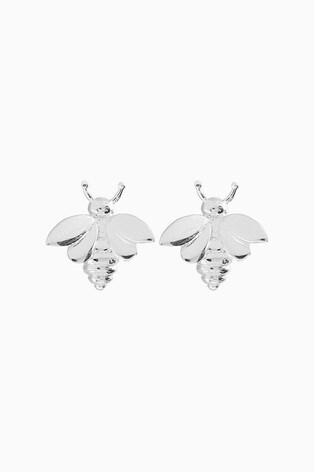 Oliver Bonas Sterling Silver Bee Stud Earrings