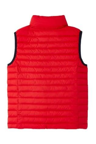 Joules Red Crofton Packaway Padded Gilet