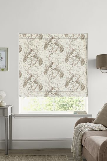 Laura Ashley Belvedere Soft Truffle Made to Measure Roman Blind