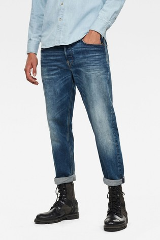 G-Star Blue Alum Relaxed Tapered Jeans
