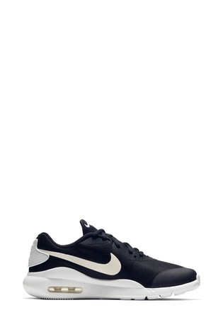 Nike Black/White Air Max Oketo Youth Trainers