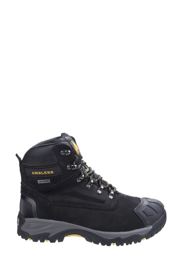 Amblers Safety Black FS987 Metatarsal Protection Waterproof Lace-Up Safety Boots