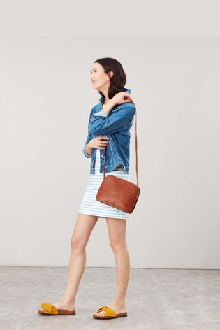 Joules Tan Langton Dome Leather Cross Over Bag