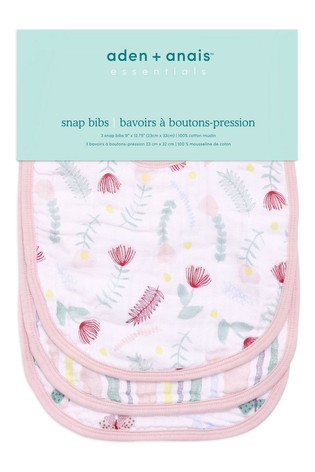 aden + anais Essentials Floral Fauna Snap Bibs Three Pack