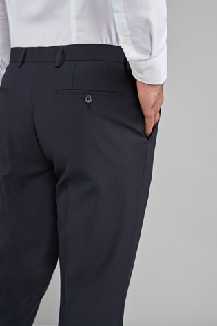Navy Regular Fit Stretch Formal Trousers