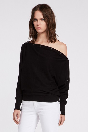 AllSaints Off Shoulder Elle Jumper