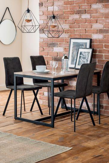 Set of 2 Monroe Dining Chairs by Julian Bowen