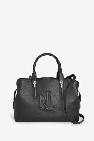 Lauren Ralph Lauren® Leather Embossed Hayward Satchel Bag