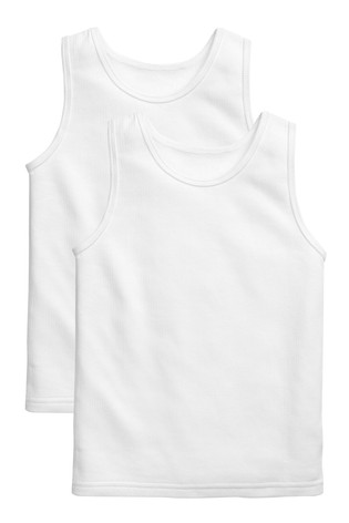 White 2 Pack Thermal Vests (2-16yrs)