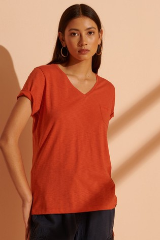 Superdry Organic Cotton Scripted V-Neck T-Shirt
