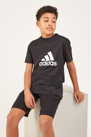 adidas Performance Black Logo Tee