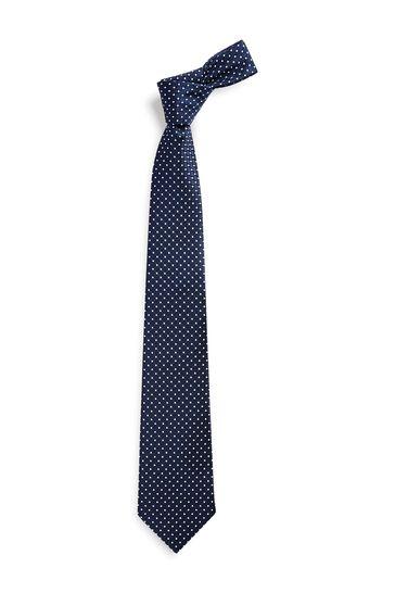 Navy Spot Regular Pattern Tie