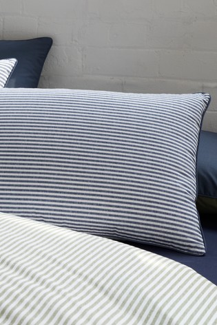 Leigh Stripe Duvet Cover And Pillowcase Set by Racing Green