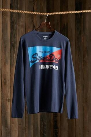 Superdry Organic Cotton Vintage Logo Primary Top