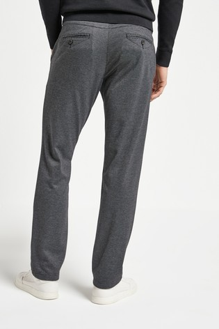 Grey Puppytooth Motion Flex Soft Touch Trousers