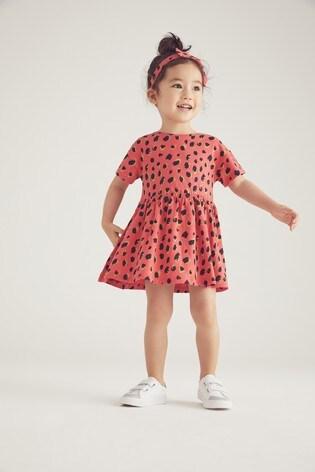 Myleene Klass Kids Leopard Tie Back Sun Dress