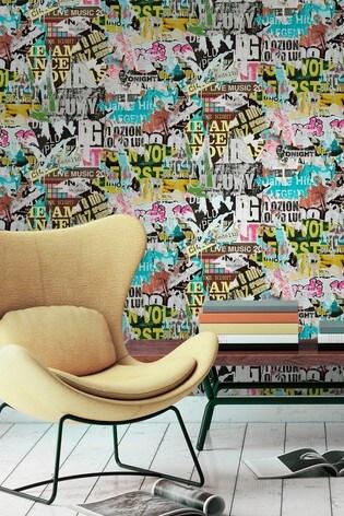 Urban Walls Ripped Poster Wallpaper