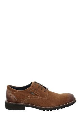 Josef Seibel Brown Jasper Smart Casual Waterproof Shoes