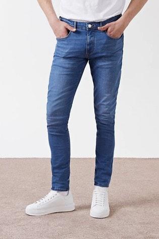 River Island Blue Sid Skinny Jeans