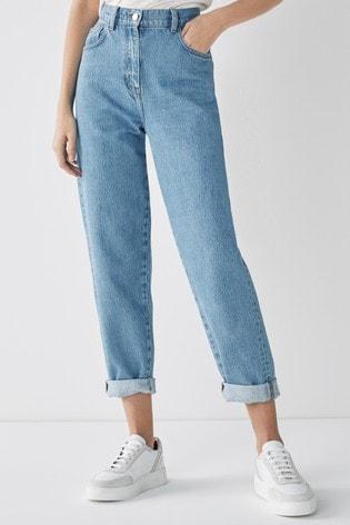 Blue Light Wash Balloon Leg Jeans