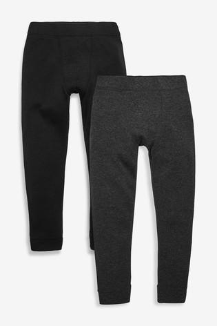 Black/Grey 2 Pack Thermal Leggings (2-16yrs)
