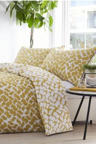 Appletree Eton Geo Piped Edge Cotton Duvet Cover and Pillowcase Set