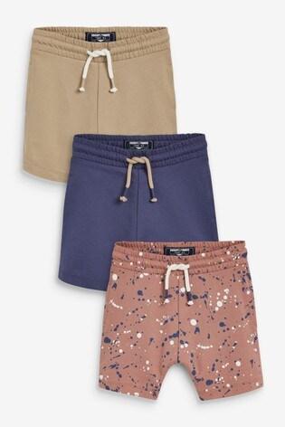 Pink Splat Mix 3 Pack Jersey Shorts (3mths-7yrs)