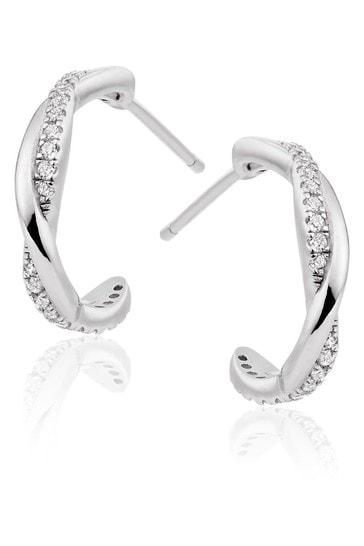 Beaverbrooks Cubic Zirconia Twist Earrings