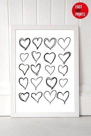 Lovehearts by Honeymoon Hotel Framed Print
