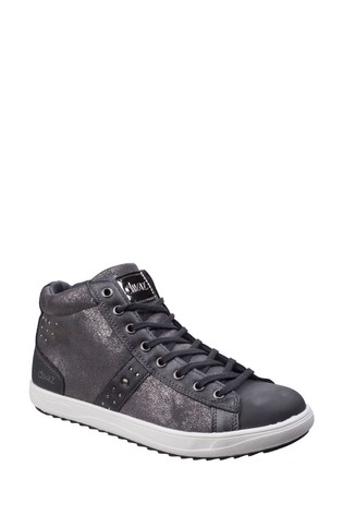 Divaz Grey Steffy Metallic Sneaker Boots