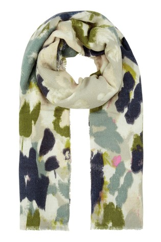 Accessorize Black Brushed Meadow Blanket Scarf