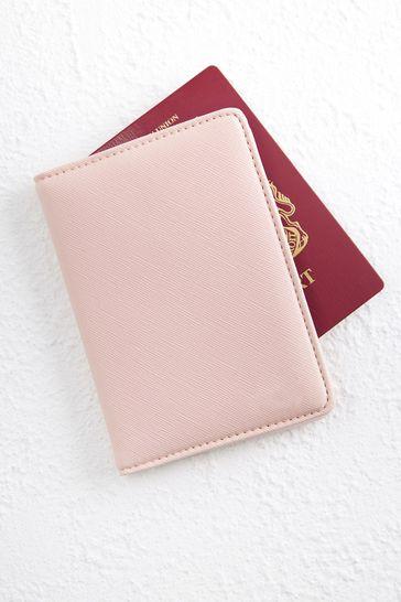 Personalised Pink Passport Holder